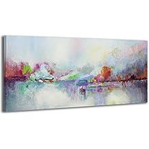 100% LABOR A MANO + certificado/ Instante/ El cuadro dibujado con pinturas acrílicas/ cuadros sobre el lienzo con bastidor de madera/ cuadro dibujado a mano/ montaje cómodo sobre la pared / Arte contemporáneo/ 115x50 cm