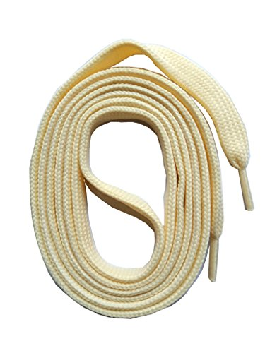 SNORS flache Schnürsenkel CREME 145cm, 11-12mm breit, reißfest, Polyester, Made in Germany für Chucks Sneaker Stiefel Boots - ÖkoTex
