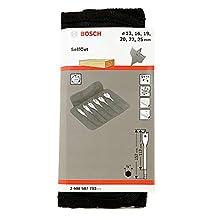 """Bosch 2608587793 1/4"""" 6 Piece Selfcut Flat Spade Wood Bits Set in Wallet"""