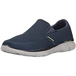 Skechers Equalizer-Double Play, Mocasines Hombre, Azul (Navy), 44 EU