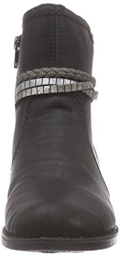 Rieker 76673, Bottes Classiques femme Noir (schwarz/argento/oro/fumo / 00)