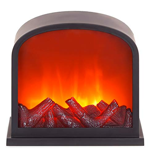 *BRUBAKER LED Standkamin Kamin – LED-Flammeneffekt – Schwarz – 28 x 30 cm*
