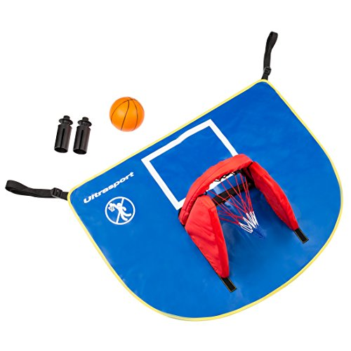 Ultrasport Trampoline Basketball Set with Canvas Backboard, Net and Ball