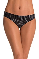 PrettySecrets Womens Brief (PSPT2015AW14_Black, Polka_S)