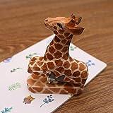 Agrafeuse de bureau en bois de tilleul pour enfants girafe