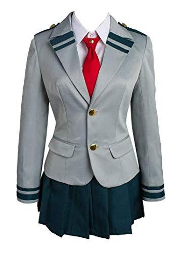 NANLAI Boku no Hero Academia My Hero Academia Tsuyu School Uniform Cosplay Kostüm Damen (L)