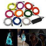 4M 10 Farben 3V Flexibel Neon EL Wire Light Dance Party Decor Licht