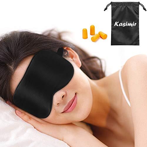 Schlafmaske Kasimir Naturseide Augenmaske für Damen und Herren 100{e3469ef6636b858cd2e9df13082bcb412ead07d86798749051b329768315f1f0} Hautfreundlich Schlafbrille für komplette Dunkelheit Bequeme Ultraweiche Nachtmaske für Reisen, Schichtarbeit, Nickerchen und Hause