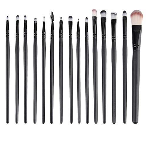 Lefu Maquillage Brosse à Lèvres Sourcils Base Ombre à Paupières Outils 15 Pcs/Sets Kits Cosmétiques Makeup