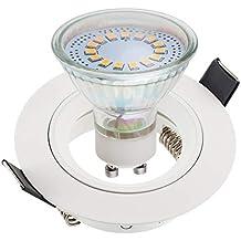 SEBSON® Foco empotrable Tipo 7, incl. GU10 bombilla 3,5W LED,