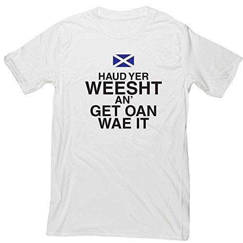 Hippowarehouse Haud yer weesht an get oan wae it Unisex Short Sleeve t-Shirt (Specific Size Guide in Description)