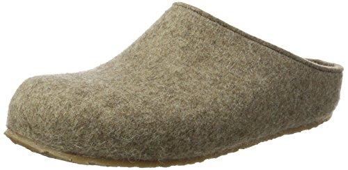 Haflinger Michl Grizzly, Chaussons mixte adulte Beige (Torf 550)