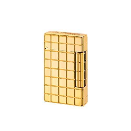 S.T. Dupont D-020801 - Accendino quadrato in bronzo dorato