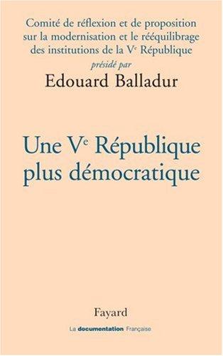 Une Ve République plus démocratique