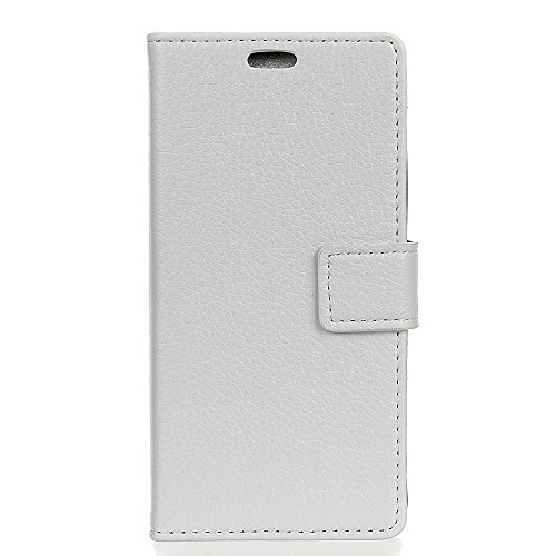 casefirst Motorola Moto G6 Case Luxury PU Leather Wallet Flip Protective Women Case Cover with Card Slots and Stand for Motorola Moto G6 White (Pg 445)
