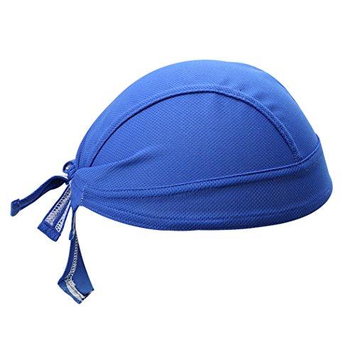 VENI MASEE Radfahren Cap Bandana Kopftuch Sweat Proof Radfahren Schädel Cap Unisex Sun UV Schutz Piraten Cap (blau/rot)