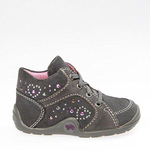 Lurchi  14562-25, Chaussures de ville à lacets pour fille Dunkel-Grau