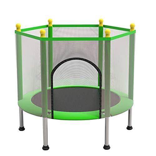 YGUOZ Indoor Outdoor Kinder Trampolin, Startseite Garten Trampolin mit Sicherheitsnetz Sprungmatte Hochfeste Federn, Trampolin Set,Green_43in