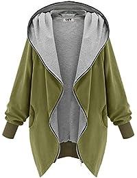 DJT Manteau Veste A capuche Zipped Jacket Trench Coat Femme