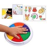 Ogquaton Timbro con tampone di inchiostro a 6 colori premium Carta artigianale per pittura con dita fai-da-te che rende i grandi bambini rotondi convenienti