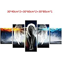 5 paneles Angel Wings pinturas al ¨®leo arte de la pared Jet Paintings Pictures for Home Living Room