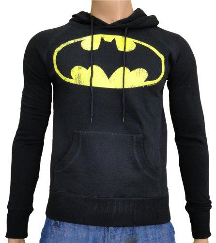 Batman sudadera con capucha-camiseta Logoshirt S-XXL Negro negro Talla:large