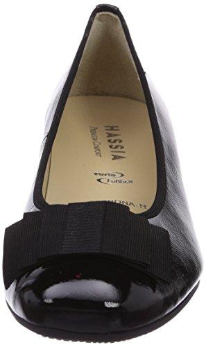 Hassia - Verona, Weite H, Scarpe col tacco Donna Nero (Schwarz (0100 schwarz))