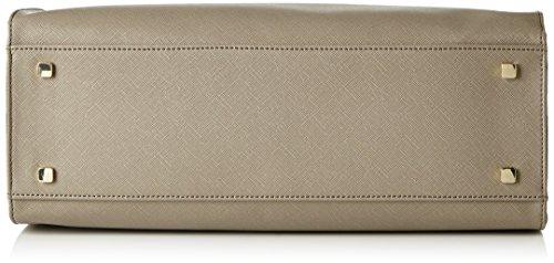 Pollini Damen Bag Henkeltaschen, 28x35x12 cm Beige (Taupe)