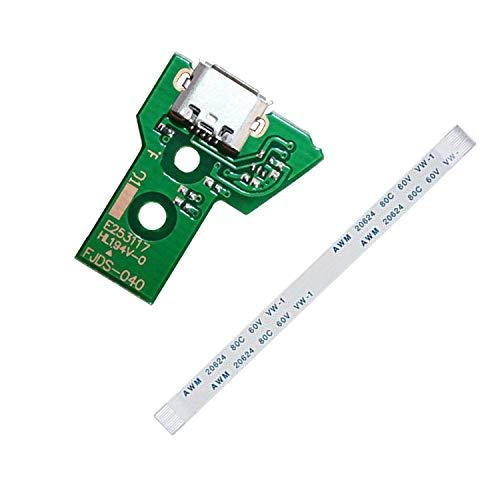PPX Porta di Ricarica USB Socket Board jds-040 per Sony PS4 Pro Controller + 12 pin Cavo,con Mini Scatola