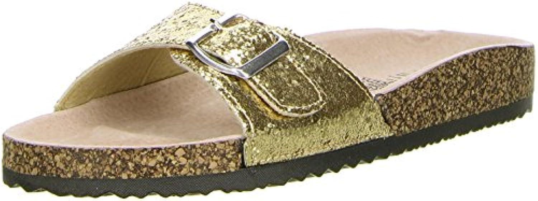 Sheila Cherada Damen Pantoletten Gold 2018 Letztes Modell  Mode Schuhe Billig Online-Verkauf