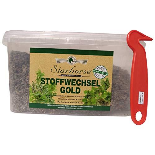 1 KG BriReTEC® Starhorse Stoffwechsel Gold Kräuter für Pferde Leber-Nieren Entgiftung (Kräuter-bundles Getrocknete)