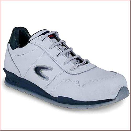 Cofra Sicherheitsschuhe Nuvolari Running S3 SRC sportliche Halbschuhe, weißes Leder, Größe 43, 40-78500004-43