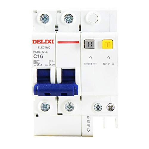 xiadsk Air Conditioning Leakage Protection Switchwith Leakage Protection Household air Switch Circuit Breakerair Conditioning Household ElectricSwitch2P, 16A -