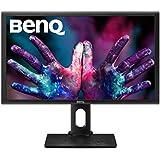 "BenQ PD2700Q - Monitor para diseñadores 27"" 2K QHD (2560x1440, 16:9, IPS, 100% Rec.709 y sRGB, 10 bit, HDMI, DP, CAD/CAM, animación, Darkroom Mode, Eye-care, Flicker-free, altura ajustable), Negro"