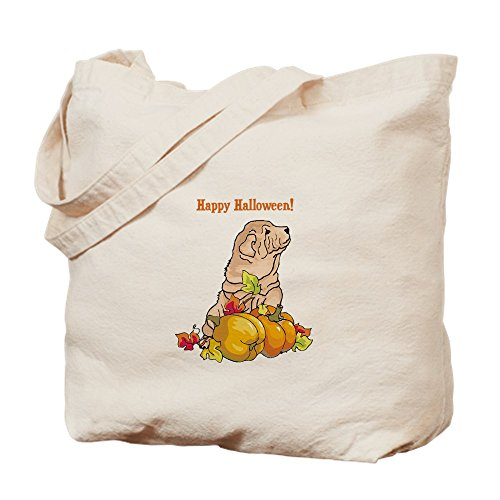 CafePress - Happy Halloween Shar Pei - Naturleinen-Einkaufstasche