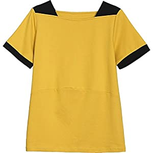 SLR Kurzarm-T-Shirt Sommer-Loose Thin Large-Size-Top Hit-to-Farbe Nähte Neck Cotton Top
