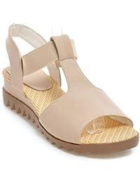 Europäische und Amerikanische geschlitzten Tau - Elastische Damen Sandalen candy Farbige frische Frauen Schuhe, blau, 38