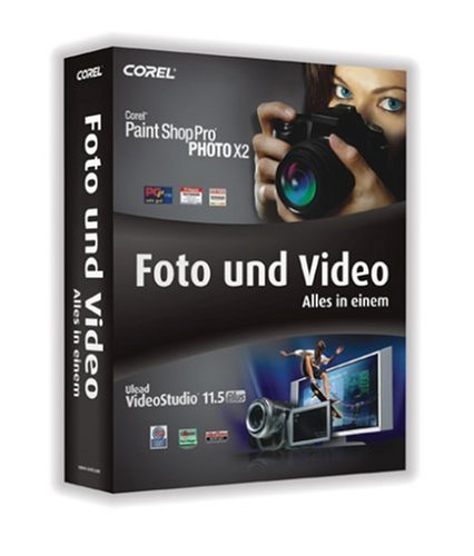 Paint Shop Pro Photo X2 + VideoStudio 11.5 Plus