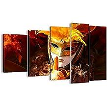 Cuadro sobre lienzo - 5 piezas - Impresión en lienzo - Ancho: 150cm, Altura: 100cm - Foto número 0420 - listo para colgar - en un marco - EG150x100-0420