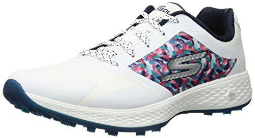 Skechers 2018Go Golf Eagle Grandi da Donna Senza Tacchetti da Golf Scarpe 14863, Bianco (White/Navy), US M