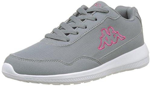 Kappa Damen Follow Sneaker, Grau (Grey/Pink 1622), 37 EU