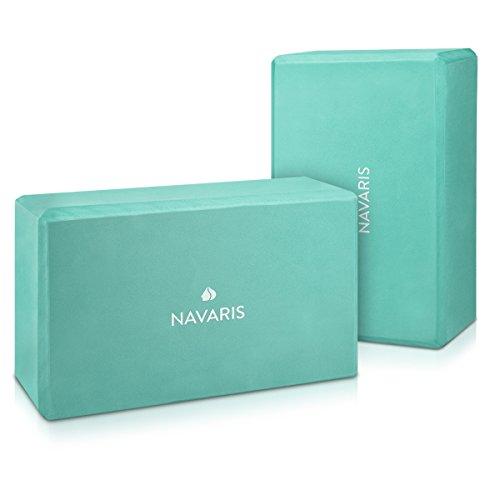 Navaris 2in1 Set Yoga Blöcke - 2X Yoga Block Hilfsmittel für Pilates Yoga Training - Yoga Zubehör Einsteiger Fortgeschrittene - Verschiedene Farben