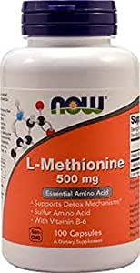 L-méthionine 500 mg - 100 gelules - Now foods