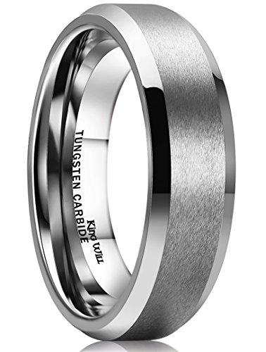 Kingwill  -  Wolframcarbid  Wolframcarbid     keine Angabe  (Mens Wedding Bands Hartmetall-8mm)