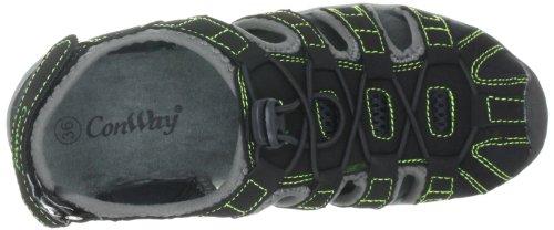 Conway 660124, Unisex - Erwachsene Sandalen/Outdoor-Sandalen Schwarz (Black/Green)