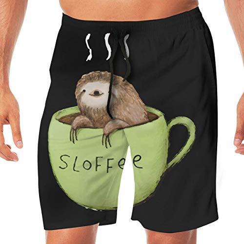 Men Swim Suits Sloffee Summer Vacation Beach Boardshort with Pocket,XL -