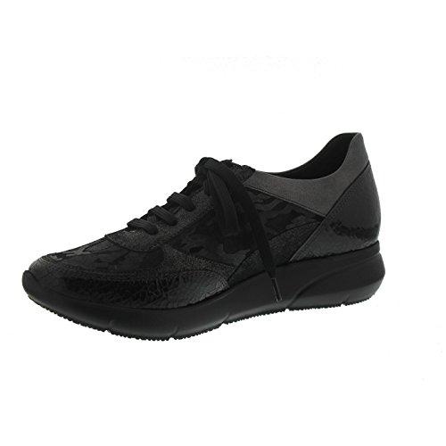 Mephisto Diane, Sneaker, Lack / Velour bedruckt, schwarz/bronce D2020 Schwarz / Bronce