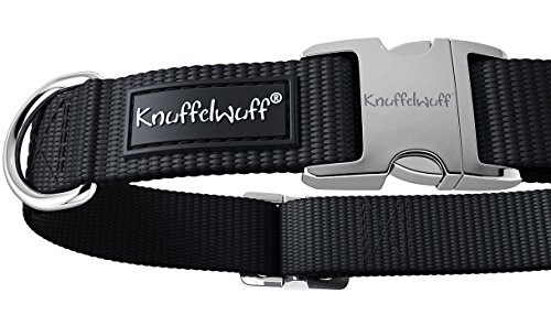 Knuffelwuff 13947-003 ALU Hundehalsband Active, Nylon, 25-40 cm, schwarz - 3