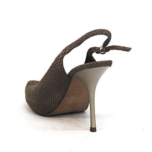 Sam Edelman peep toe apertura posteriore campo scarpe con il tacco, in pelle scamosciata, taglia 3,5, da £149 Nero (Toasted-light-brown)