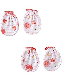 Wonderkids Boat Print Baby Mittens Pack of 2 (0 - 6 Months)